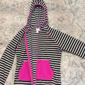 Girls north face fleece hoodie
